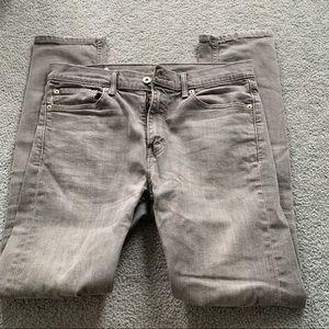 Levi's 510 Grey Washed Skinny Fit Denim Jeans 32